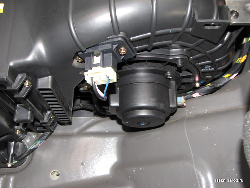 снятие мотора печки chevrolet lacetti
