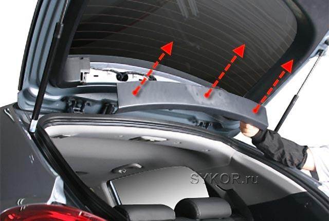 SsangYong New Actyon (Korando C) - облицовка 5-й двери - Tailgate-door-01