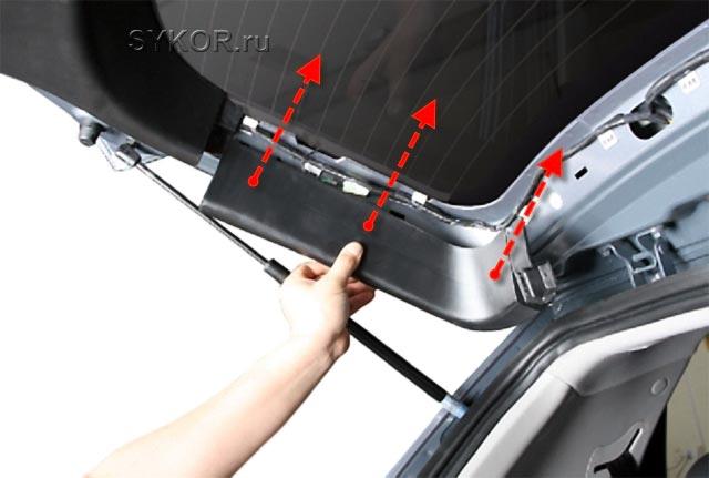 SsangYong New Actyon (Korando C) - облицовка 5-й двери - Tailgate-door-04