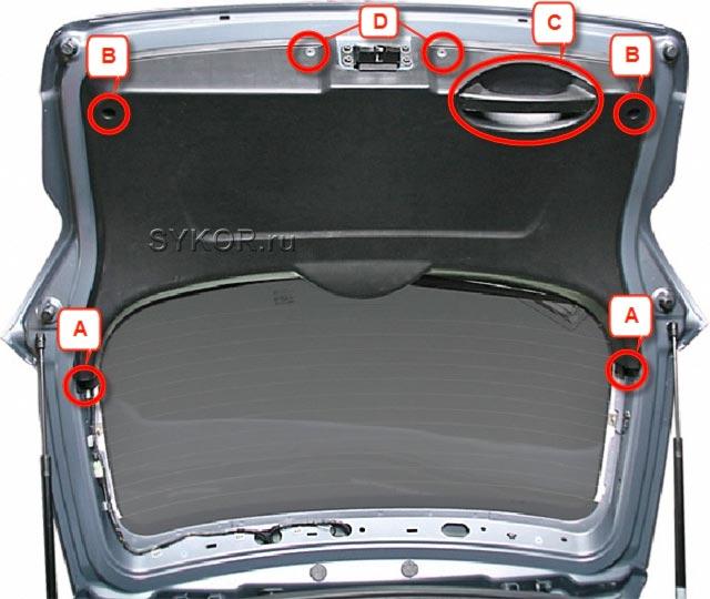 SsangYong New Actyon (Korando C) - облицовка 5-й двери - Tailgate-door-07